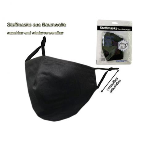 Stoffmaske schwarz schwarz