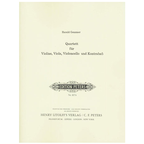 Genzmer, H.: Quartett