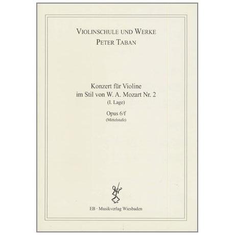 Taban, P.: Op. 6/f: Konzert im Stil von W.A. Mozart Nr. 2