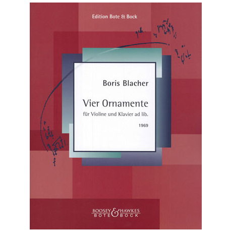 Blacher, B.: Vier Ornamente