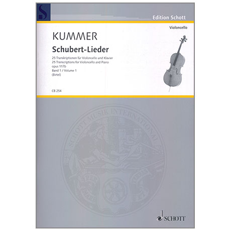 Kummer, A.: Schubert-Lieder Band 1