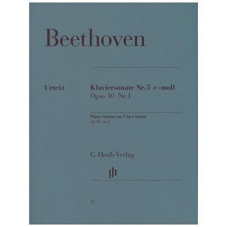 Beethoven, L. v.: Klaviersonate Nr. 5 c-Moll Op. 10,1