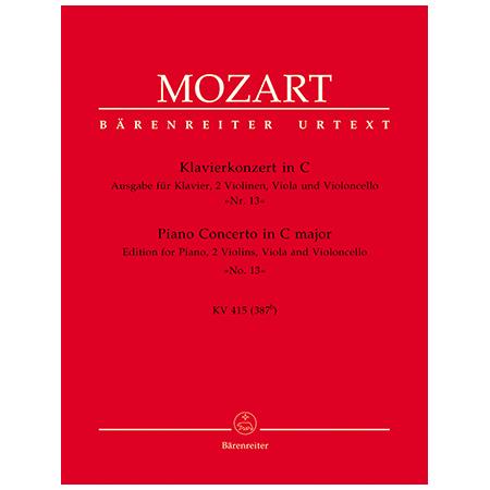 Mozart, W. A.: Klavierkonzert Nr. 13 KV 415 C-Dur