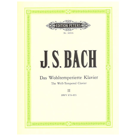 Bach, J. S.: Das Wohltemperierte Klavier Band II BWV 870-893
