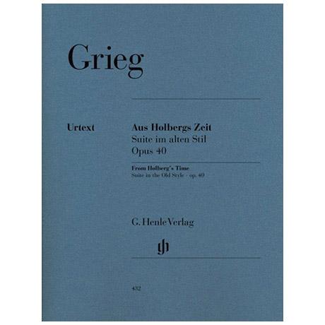 Grieg, E.: Aus Holbergs Zeit Op. 40