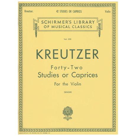 Kreutzer, R.: 42 Studies or Caprices