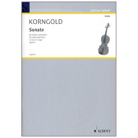 Korngold, E.W.: Sonate G-Dur Op.6