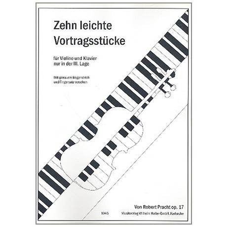 Pracht, R.: 10 leichte Vortragsstücke Op. 17