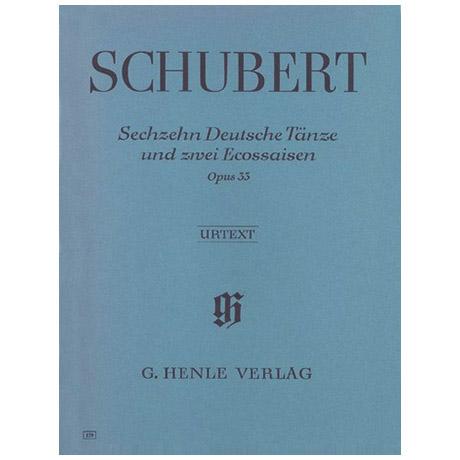Schubert, F.: 16 Deutsche Tänze und 2 Eccossaisen Op. 33 D 783
