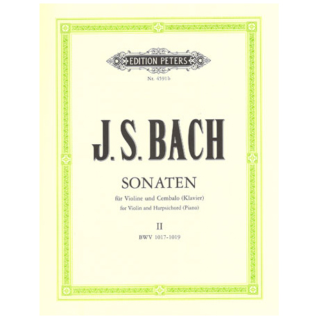 Bach, J.S.: Sechs Sonaten - Band 2: BWV 1017 - 1019