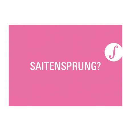 Postkarte SAITENSPRUNG?