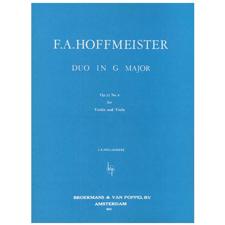 Hoffmeister, F. A.: Duett Op. 13/6 G-Dur