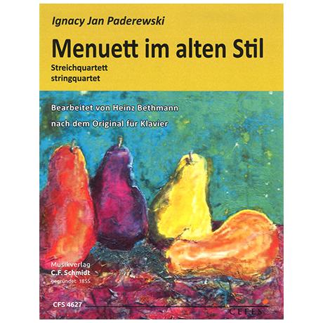 Paderewski, I. J.: Menuett im alten Stil