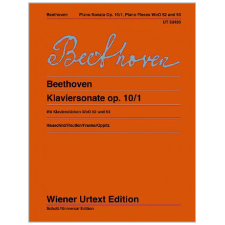 Beethoven, L. v.: Klaviersonate Op. 10/1 c-Moll, Klavierstücke WoO 52, 53