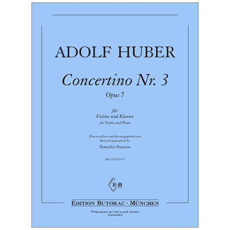 Huber, A.: Concertino Nr. 3 Op. 7