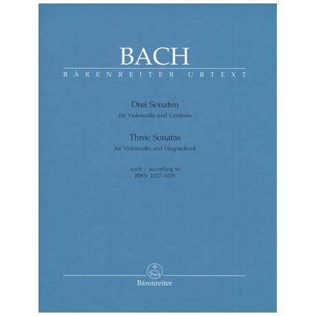 Bach, J.S.: Drei Sonaten nach BWV 1027-1029, Urtextausgabe