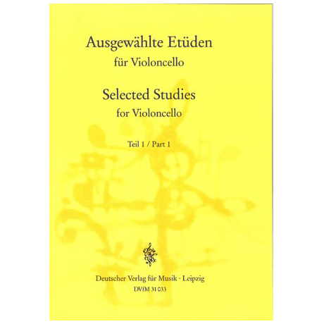 Lösche, H. (Hrsg.): Ausgewählte Etüden für Violoncello Teil 1
