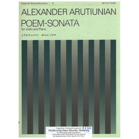 Arutiunian, A.: Poem-Sonata