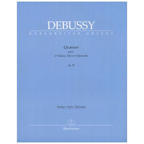 Debussy, C.: Streichquartett Op. 10 - Urtextausgabe