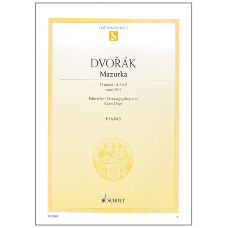 Dvořák, A.: Mazurka Op. 56 Nr. 4 d-Moll