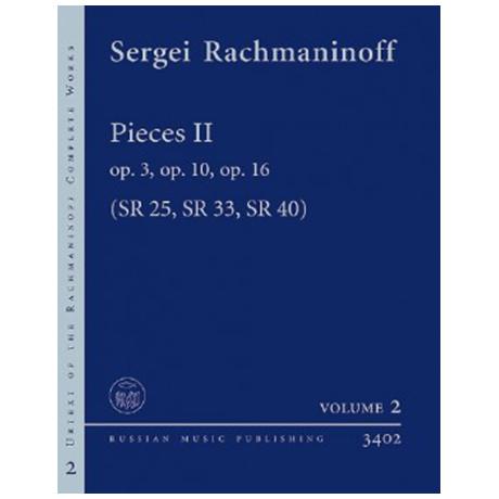 Rachmaninow, S.: Stücke Band 2 Op. 3 SR 25, Op. 10 SR 33, Op. 16 SR 40