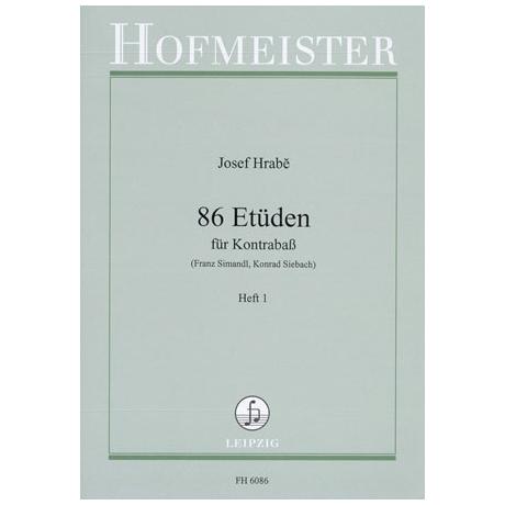 Hrabé, J.: 86 Etüden Heft 1