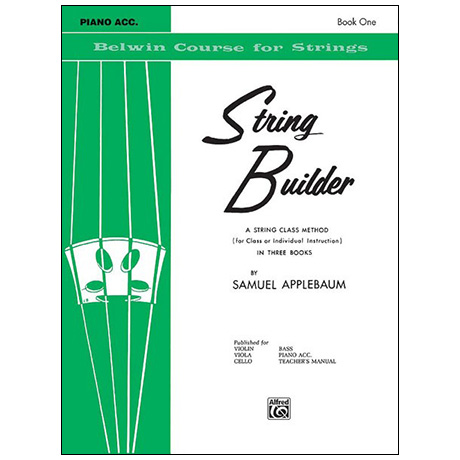 Applebaum, S.: String Builder Book One – Piano Accompaniment