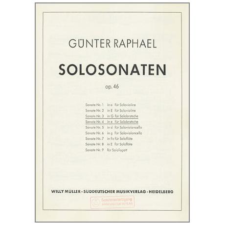 Raphael, G.: Violasonate Op. 46 Nr. 3/4