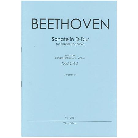 Beethoven, L. v.: Violasonate D-Dur nach Op. 12/1