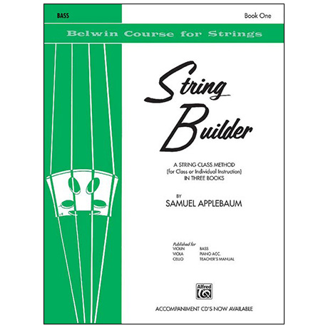Applebaum, S.: String Builder Book One – Bass
