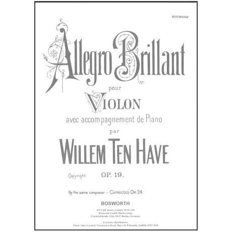 Ten Have, W.: Allegro brillante op. 19