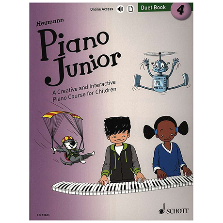 Heumann, H.-G.: Piano Junior – 4 Duet Book (+Online Audio)