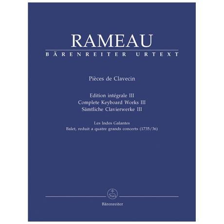 Rameau, J.: Sämtliche Clavierwerke Band III