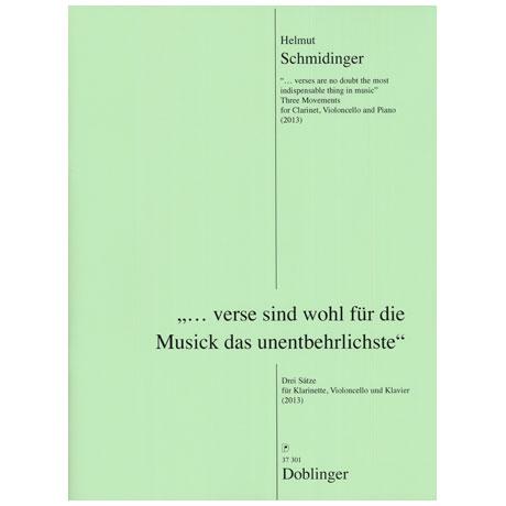 Schmiedinger, H.: »...verse sind wohl für die Musick das unentbehrlichste« (2013)