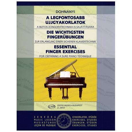 Dohnányi, E.: Die wichtigsten Fingerübungen