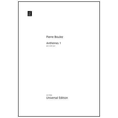 Boulez, P.: Anthèmes 1