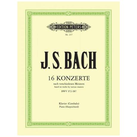 Bach, J. S.: 16 Konzerte BWV 972-987