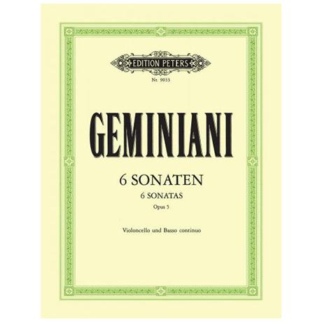 Germiniani, F.: 6 Sonaten Op. 5