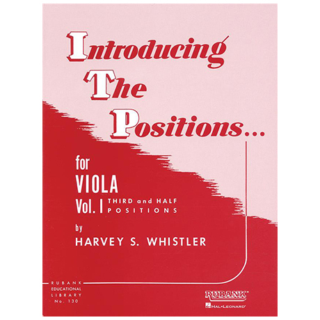 Whistler, H. S.: Introducing the Positions for Viola Vol. 1