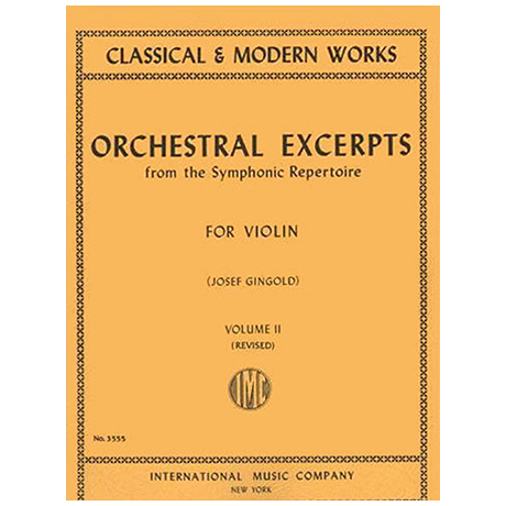 Gingold, J.: Orchestral Excerpts from the Symphonic Repertoire Band 2