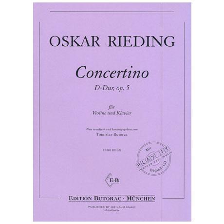 Rieding, O.: Concertino D-Dur op. 5 (+CD)