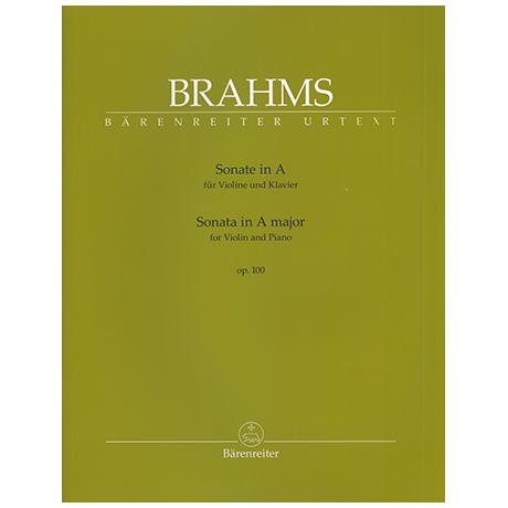Brahms, J.: Sonate für Violine und Klavier Op. 100 A-Dur