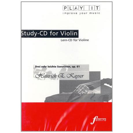 Kayser, H.E.: Drei sehr leichte Sonatinen Op. 61 Play-Along-CD (nur CD)