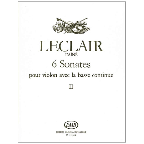 Leclair, J.-M.: 6 Violinsonaten Band 2 (Nr. 4-6)
