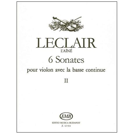 Leclair, J.-M.: 6 Violinsonaten Band 2 (Nr. 4-6)