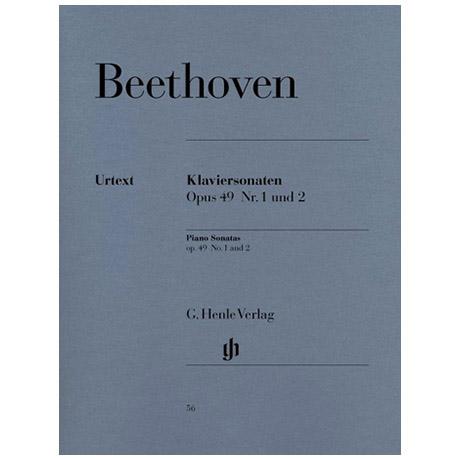 Beethoven, L. v.: 2 leichte Klaviersonaten Nr. 19/20 g-Moll/G-Dur Op. 49,1/2