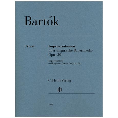 Bartók, B.: Improvisationen über ungarische Bauernlieder Op. 20