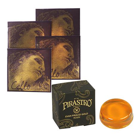 PIRASTRO Evah Pirazzi Gold Cellosaiten SATZ + Kolophonium