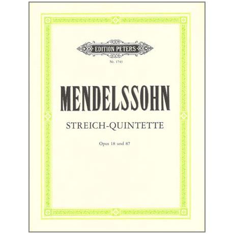 Mendelssohn Bartholdy, F.: Streichquintette Op. 18, 87