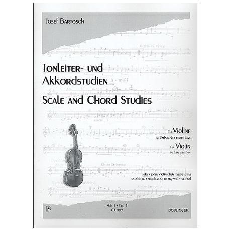 Bartosch, J.: Tonleiter- und Akkordstudien für Violine Heft 1